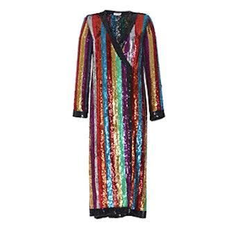 Grace Sequined Wrap Dress