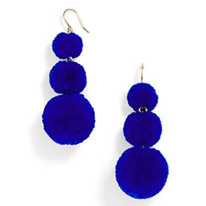 Pom Pom Crispin Ball Drop Earrings