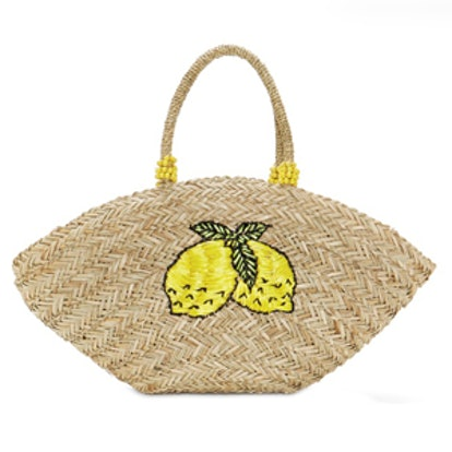 Lemonade Straw Tote Bag