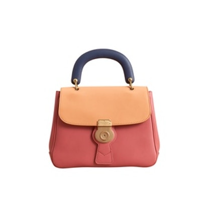 The Medium DK88 Top Handle Bag in Blossom Pink/Pale Clementine