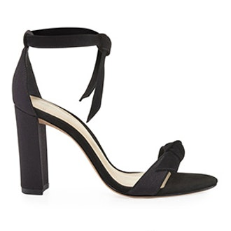 Clarita Suede/Grosgrain 90mm Sandal