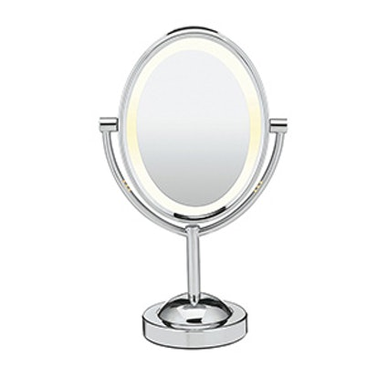 Oval Shaped Double-Sided Lighted Makeup Mirror