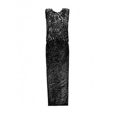 Cory Sequin Open-Back Gown