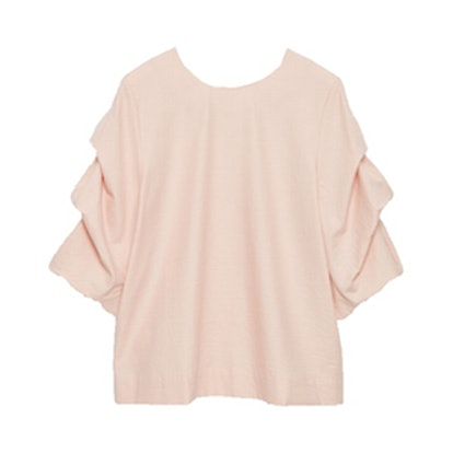 Top with Draped Sleeve