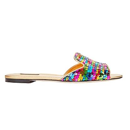 Sequin Slide Sandals