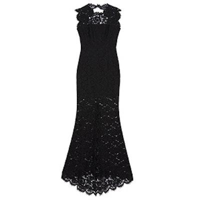 Estelle Open-Back Lace Gown