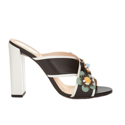 Flowerland Leather Mules