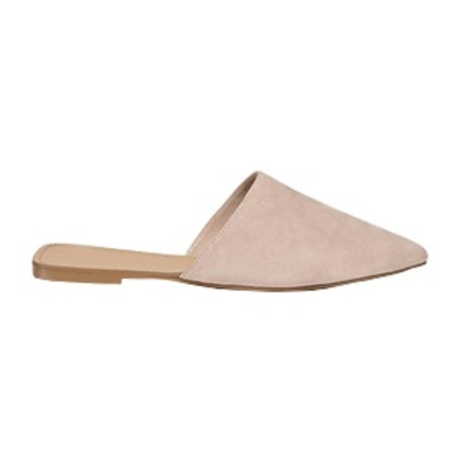 Faux Suede Pointed Flats