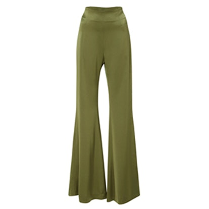 High-Waist Satin Trousers