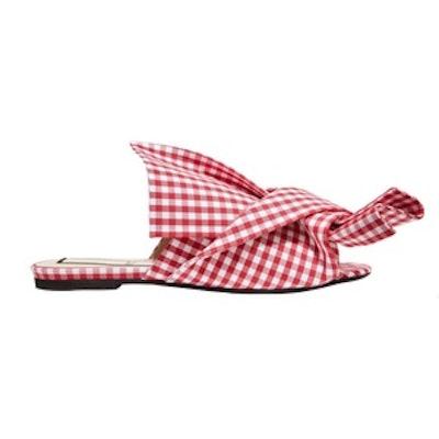 Gingham Twill Sandals