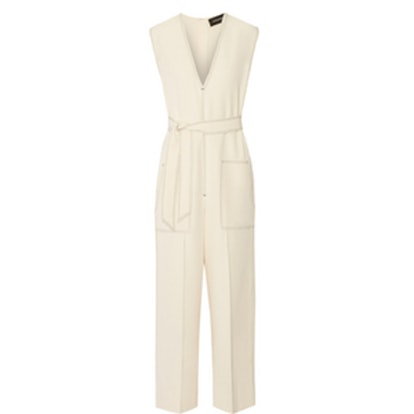 By Malene Birger Avilla Embroidered Stretch-Crepe Jumpsuit