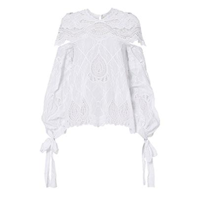 Crochet Blouson Sleeve Blouse