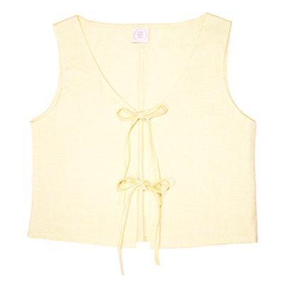 Capri Linen Tie Top