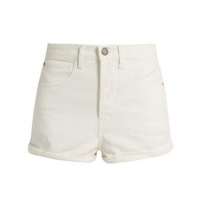 Low Cut-Off Denim Shorts