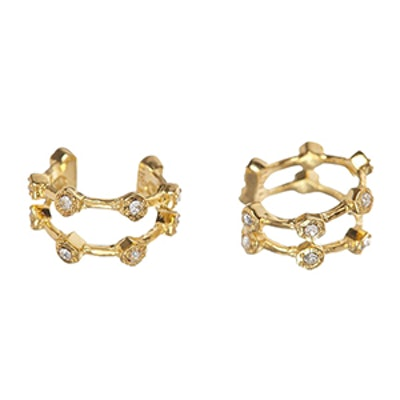 Pave Hex Ear Cuff