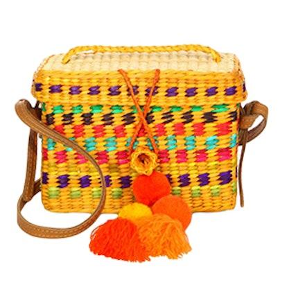 Baby Rogue Pom-Pom Basket Shoulder Bag