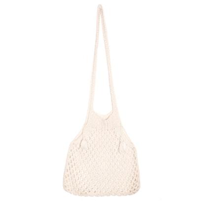 Knit Fisherman Net Shoulder Bag
