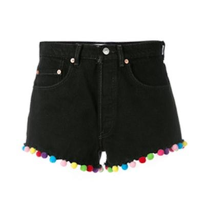 Pompom Trim Shorts