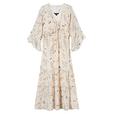 Belmont Floral Printed Chiffon Midi Dress