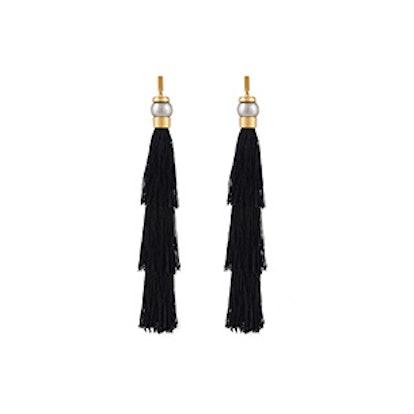Gloria Silk Tassel Earrings