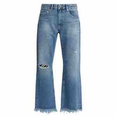Raey Max Asymmetric Hem Wide-Leg Jeans