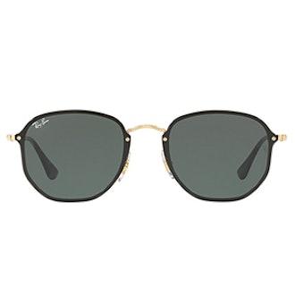 Blaze Hexagonal Flat Lens Sunglasses