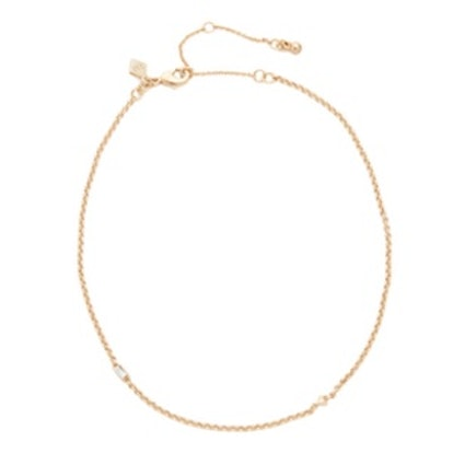 Baguette Stone Chain Choker Necklace