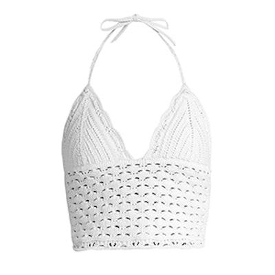 Cotton Crochet Halter Top