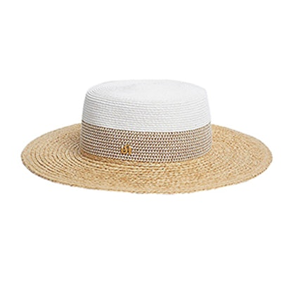 Flat Brim Straw Hat