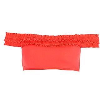 Shirred Bardot Bikini Top