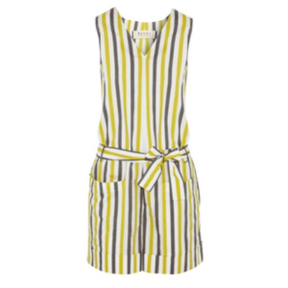 Marni Infinite Lines Striped Cotton Playsuit