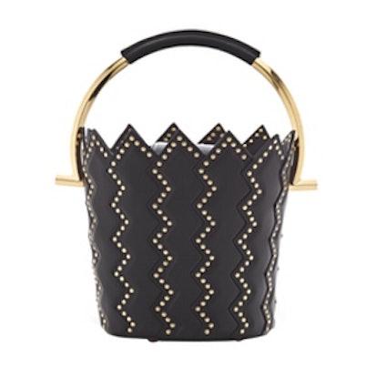 Zigzag Bucket Bag in Black