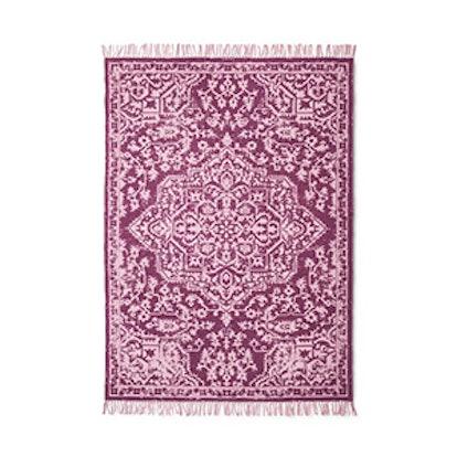 6'x9' Medallion Print Woven Rug