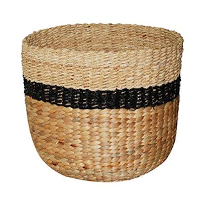 Black Stripe Sea Grass Basket