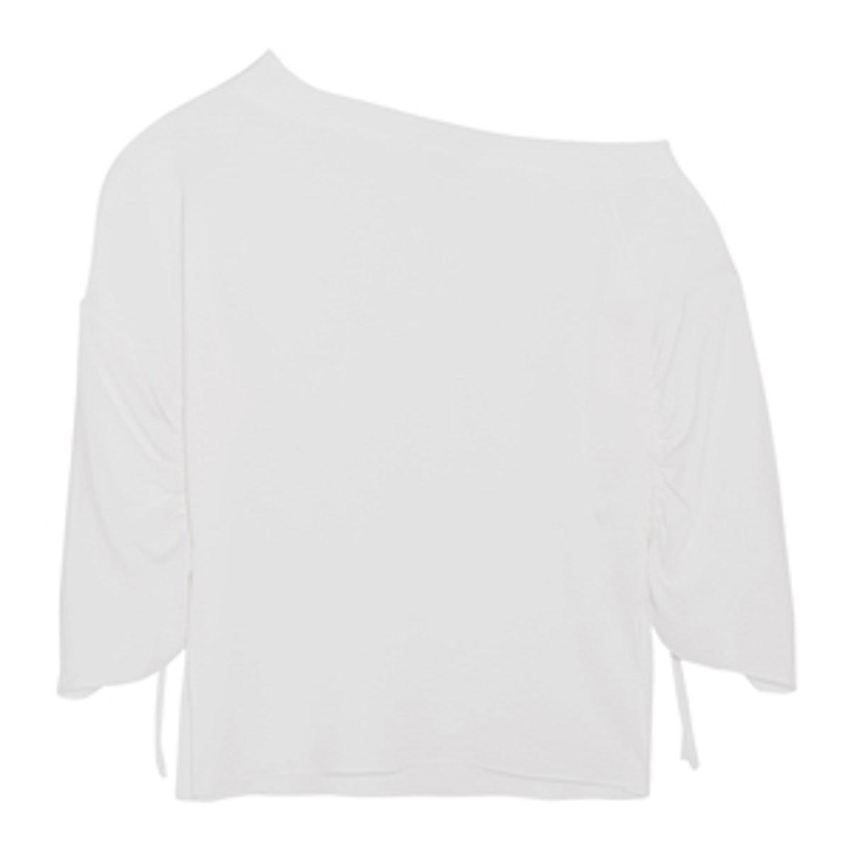 One-Shoulder Crepe Top
