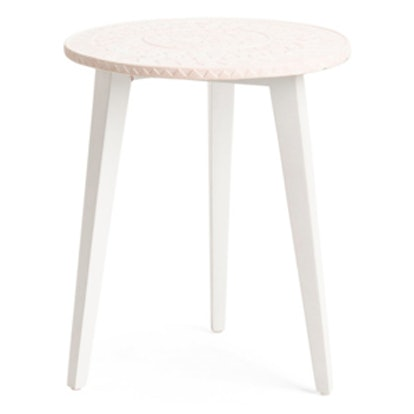 Cement Stamp Side Table