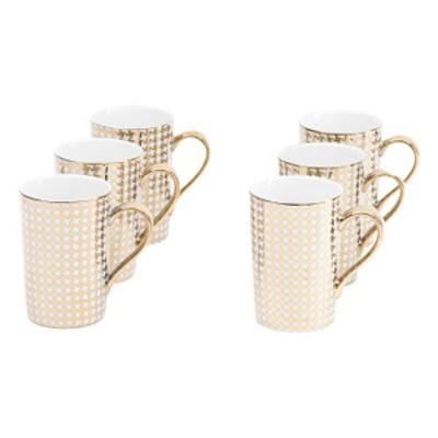 6pk Metallic Madison Mug Set