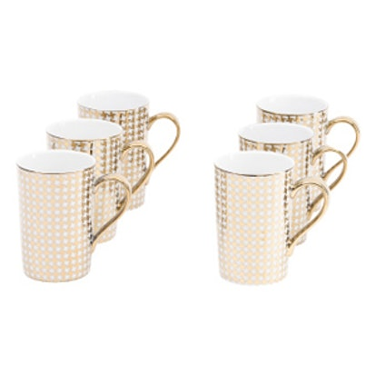 6pk Metallic Madison Mug Set