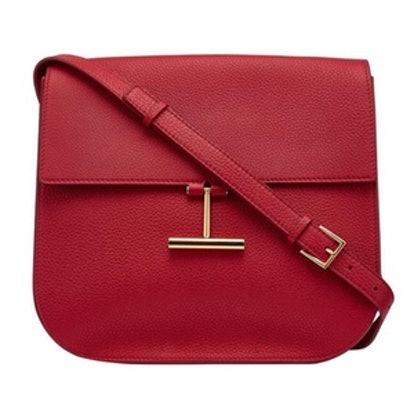 Tara Crossbody Bag in Dark Red