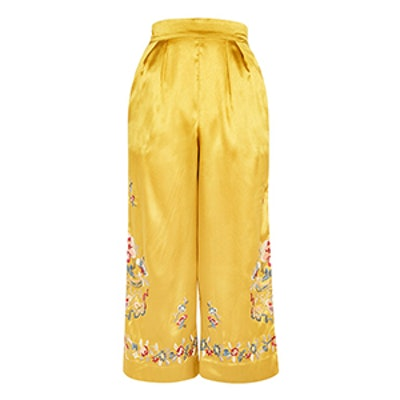 Petite Embroidered Trousers