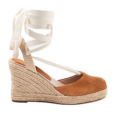 Waves Espadrille Wedge Heel Sandals
