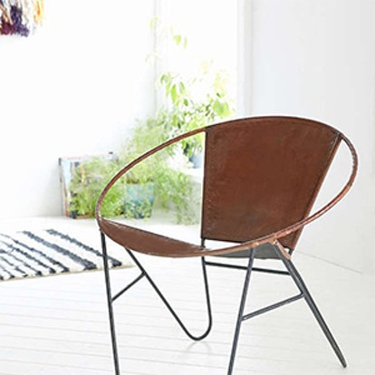 Jax Leather + Wire Chair