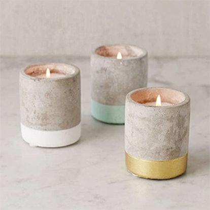 Small Concrete Candle