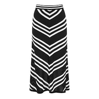 Mono Chevron Skirt