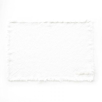 Faded White Cotton Placemat