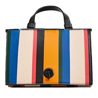 Multicolored Stripes Triangular City Bag