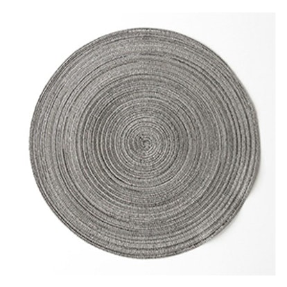 Round Silver Placemat with Reflective Pieces