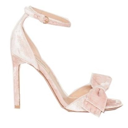 Velvet Bow Sandals