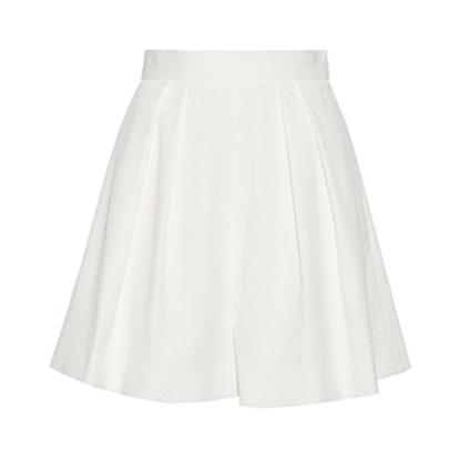 Pleated Jacquard-Knit Shorts