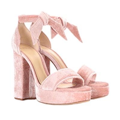 Celine Velvet Plateau Sandals